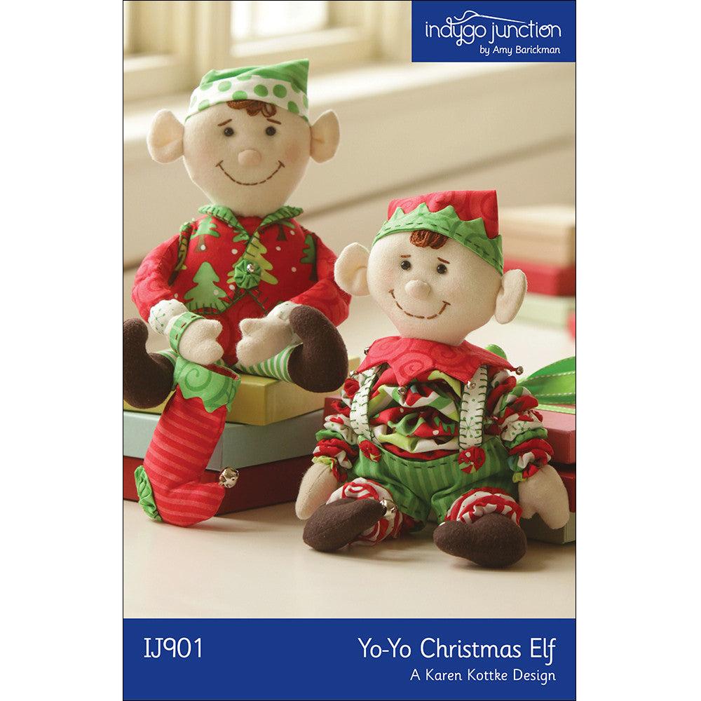 Yo-Yo Christmas Elf Pattern - A Karen Kottke Design