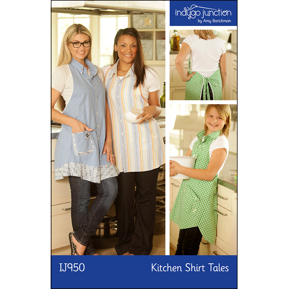 Kitchen Shirt Tales Recycled Apron Pattern by Indygo Junction
