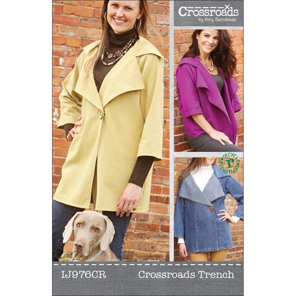 Crossroads Trench Jacket Pattern by Indygo Junction