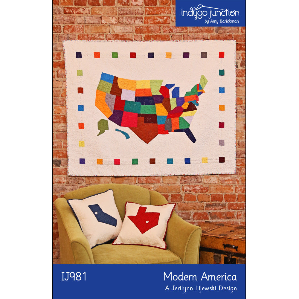 Modern America Quilt Pattern by Indygo Junction