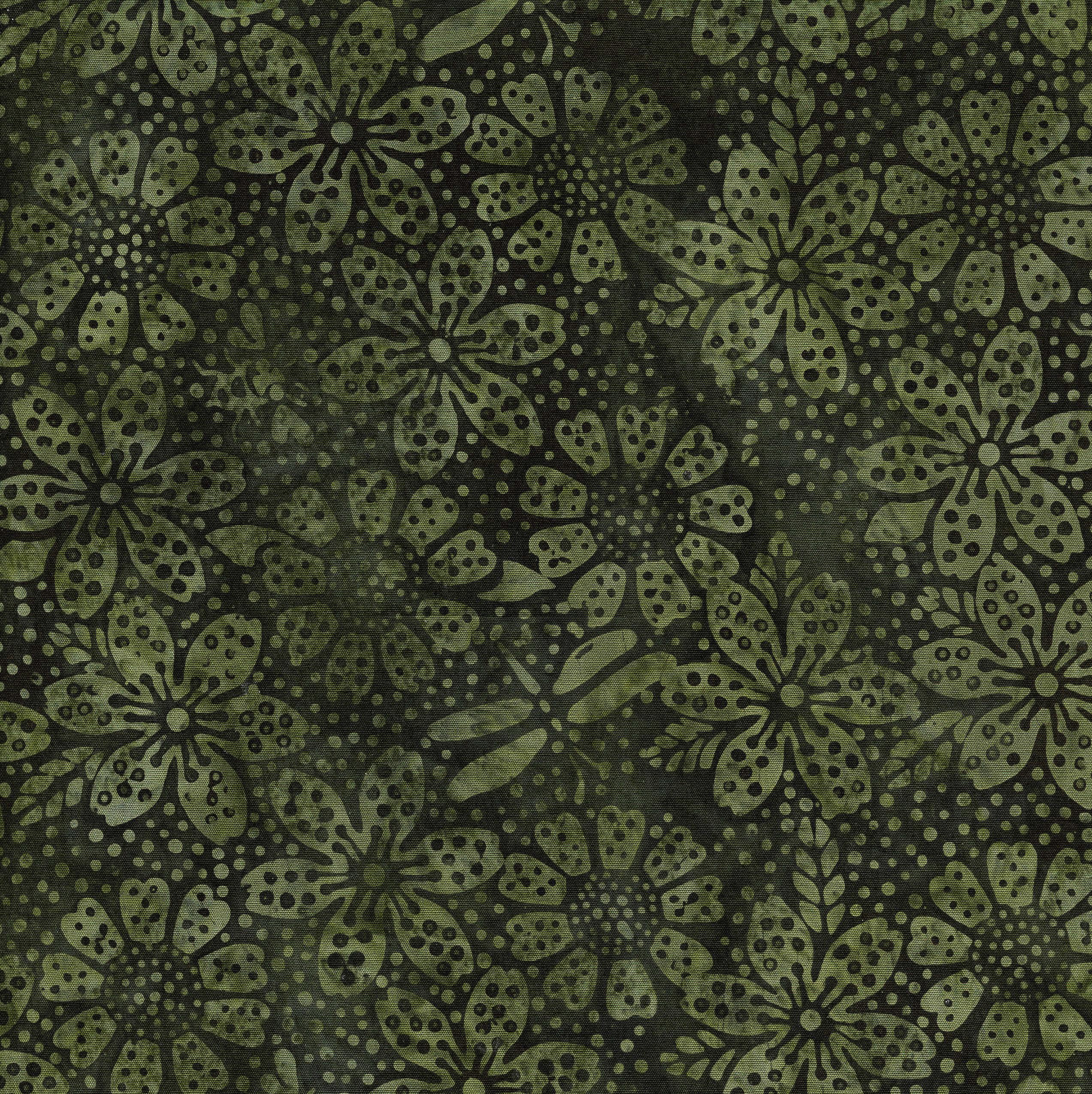 111812655 / Floral Dot -Olive