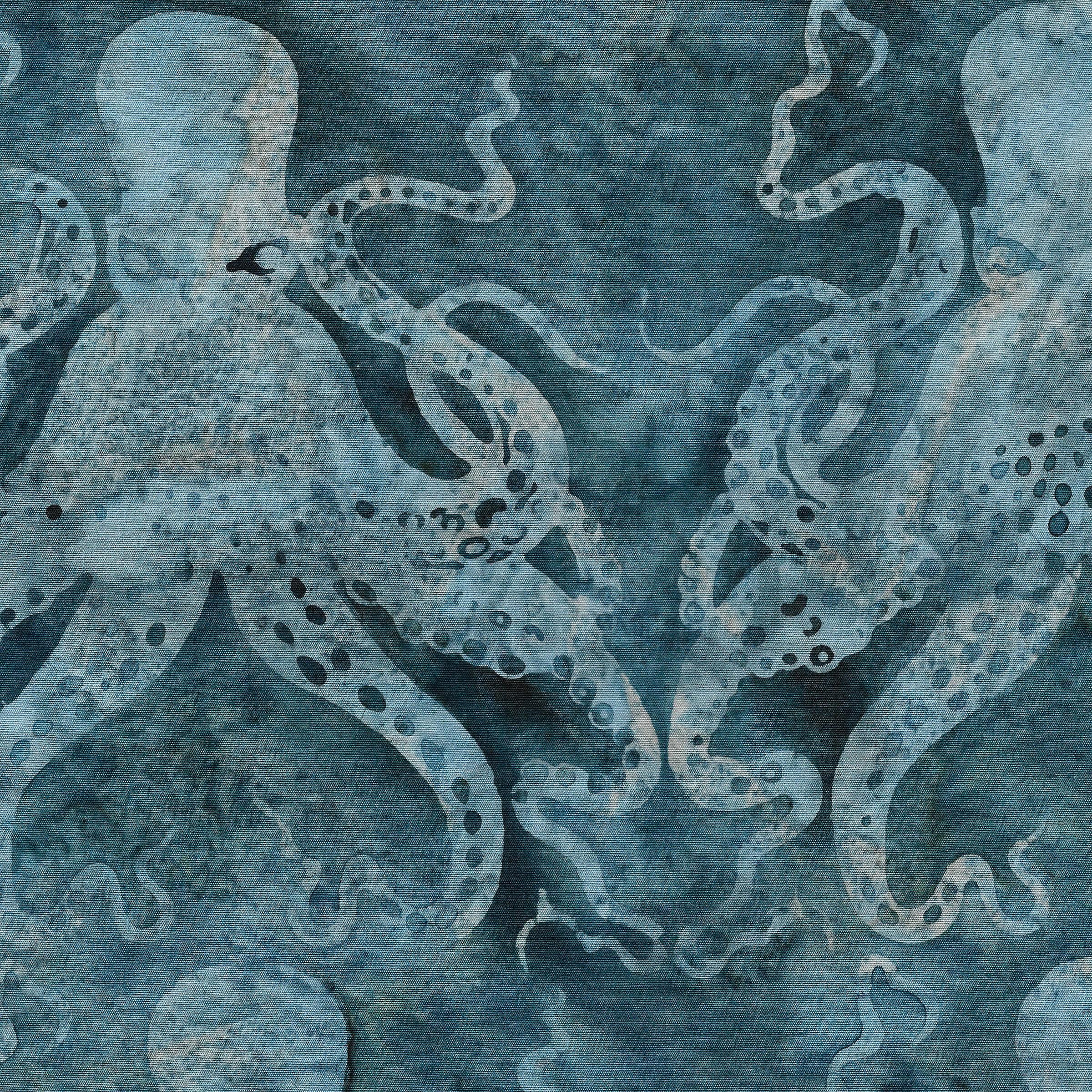 Batik - Octopus -Frozen Pond