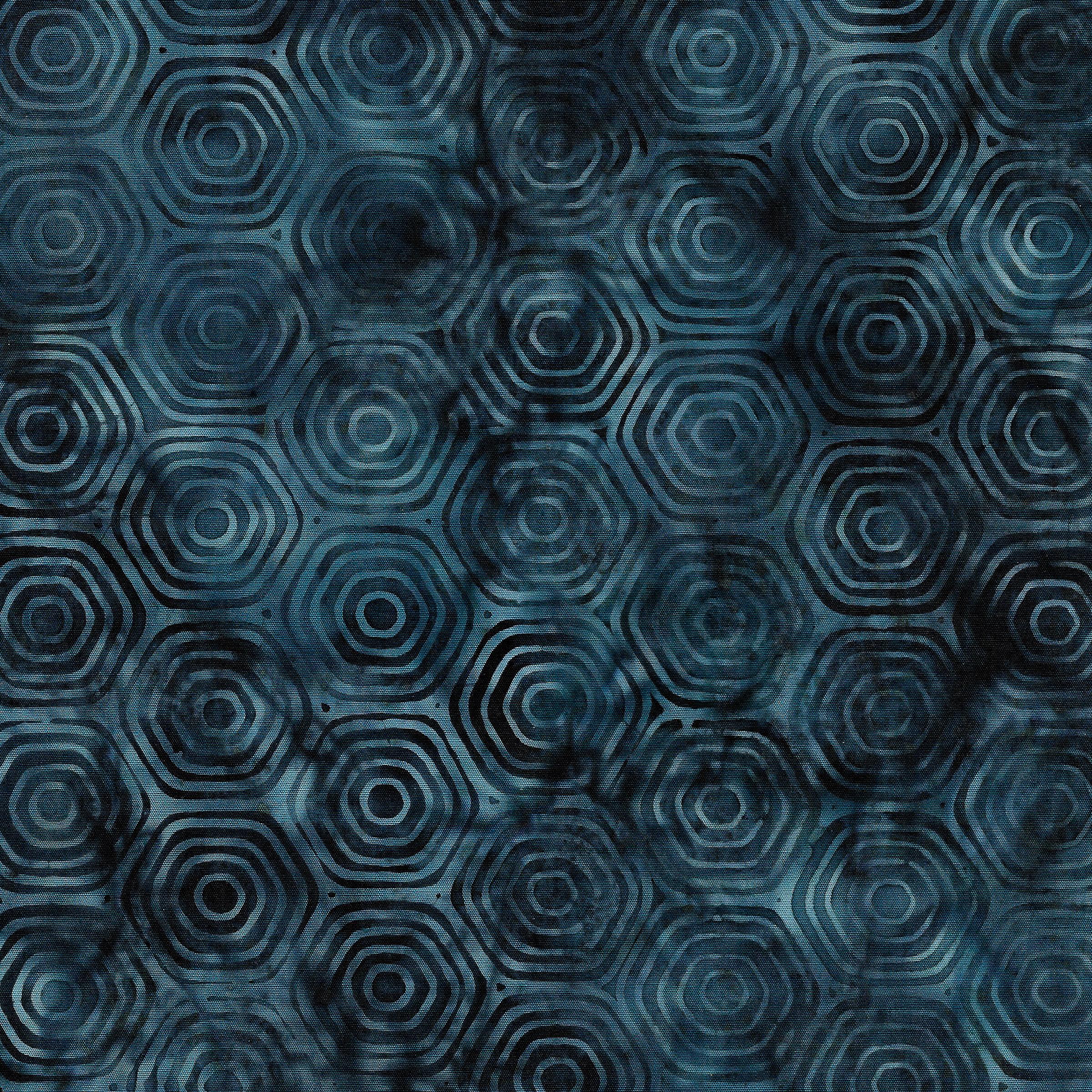 Island Batiks Hexigon-Dark Lagoon 111916560 *