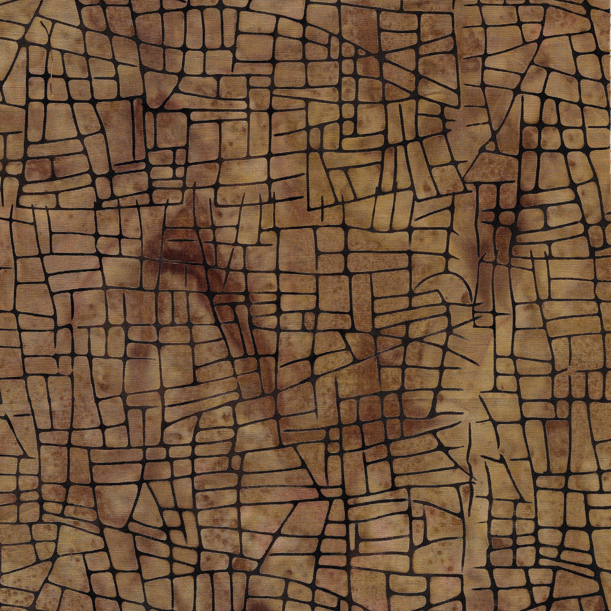 Island Batik 111923055 Mosaic Lines -Acorn