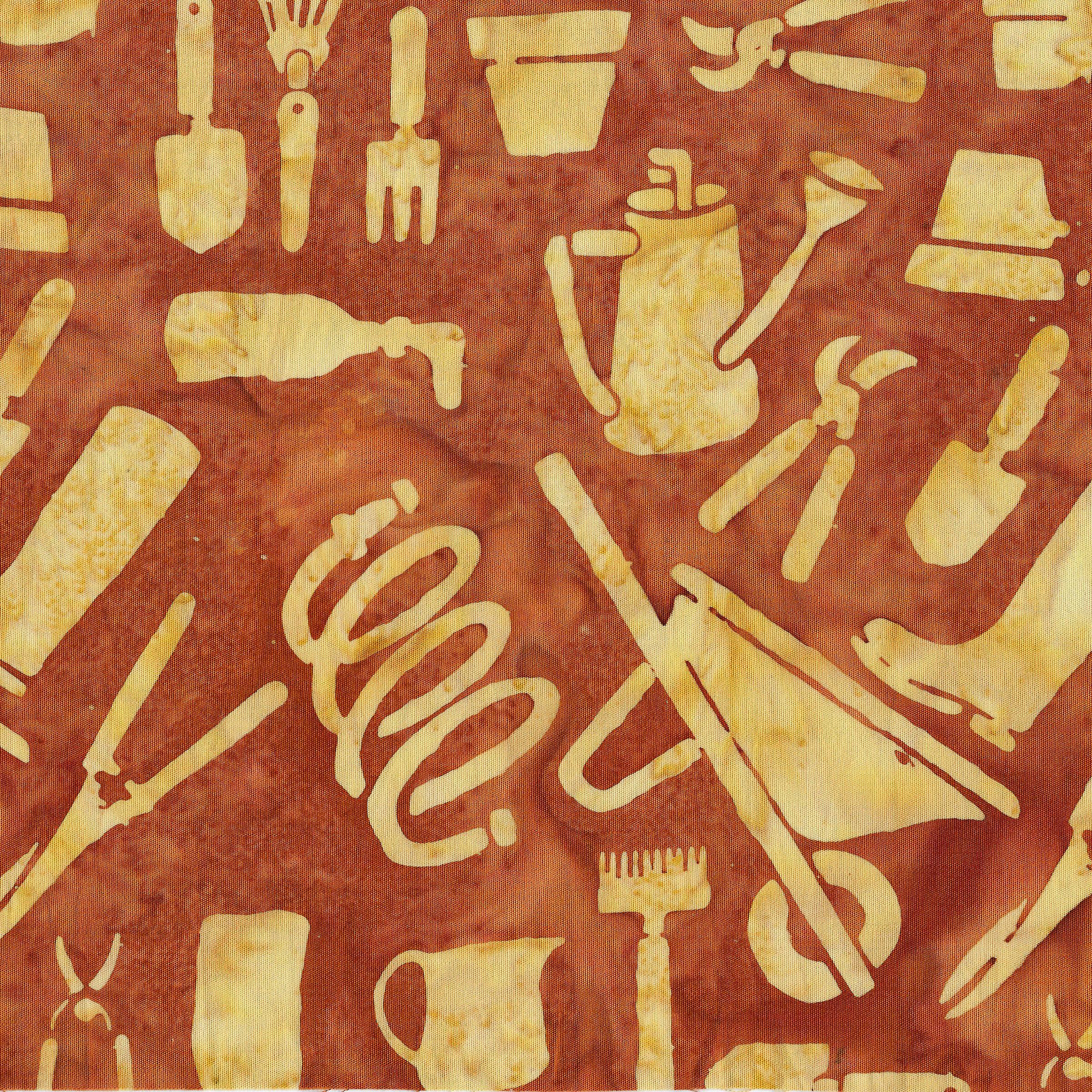 Batik - Garden Tools - Copper