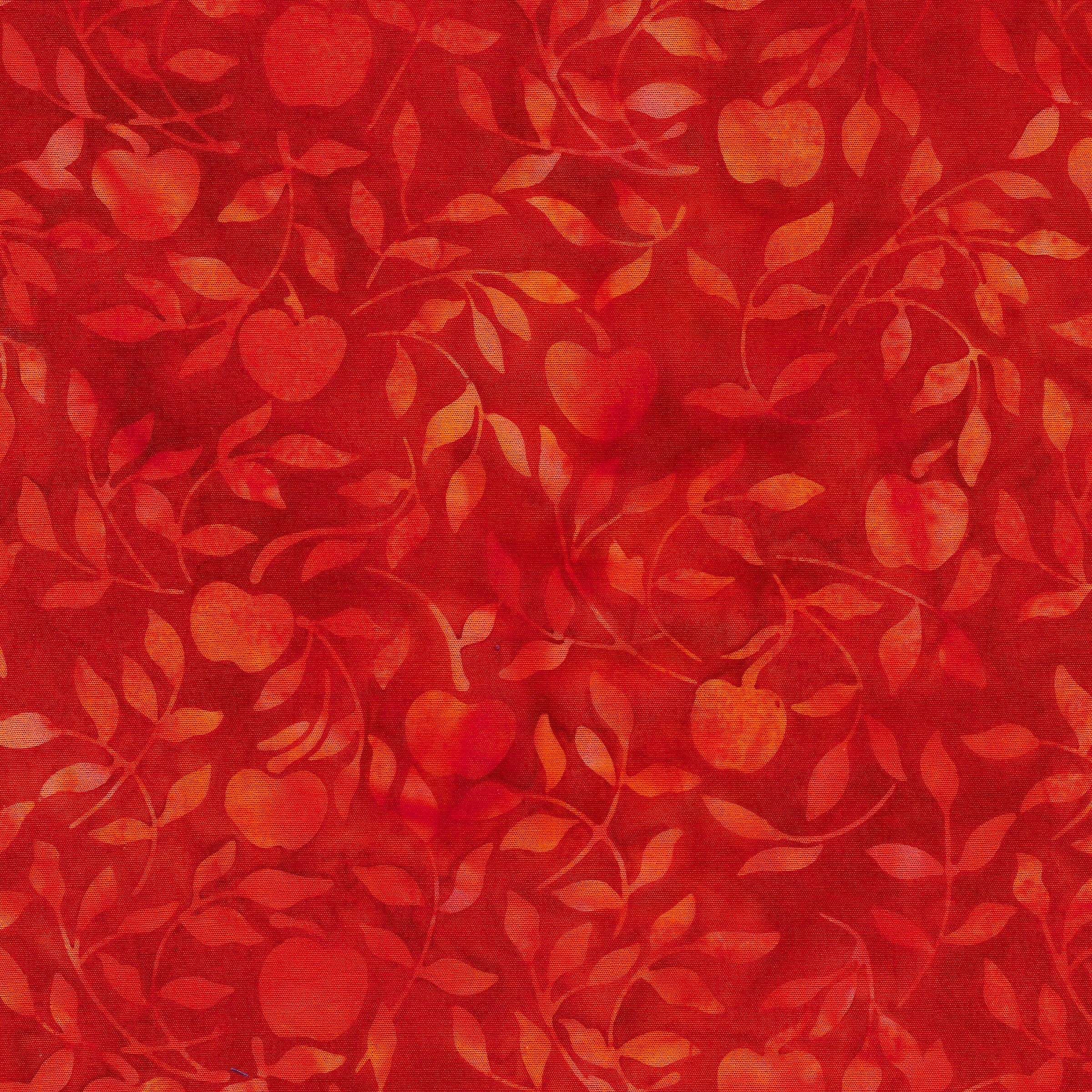 Batik, Strawberries -Cherry Red