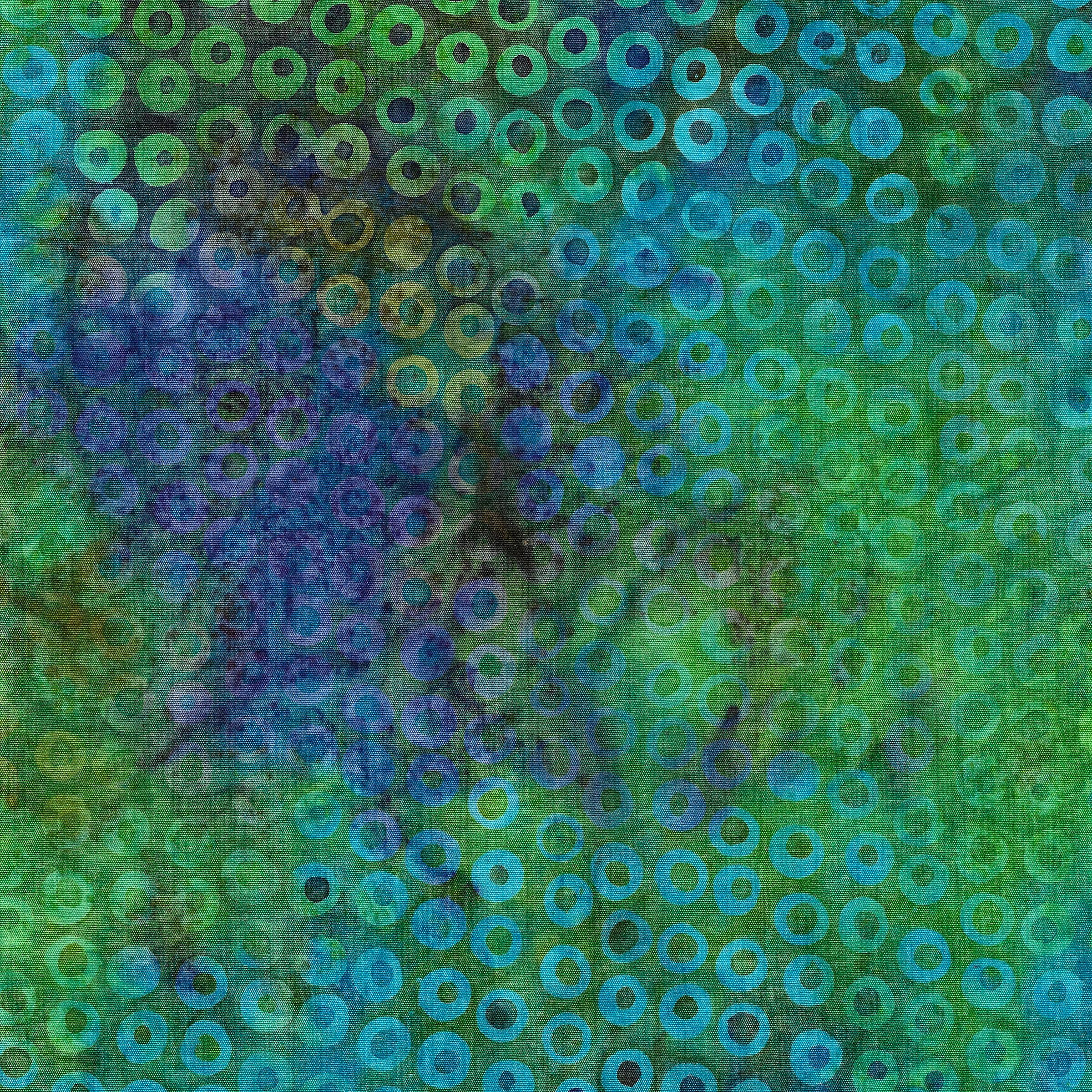 IB- Cherrios-Marbles Blue/Purple Batik