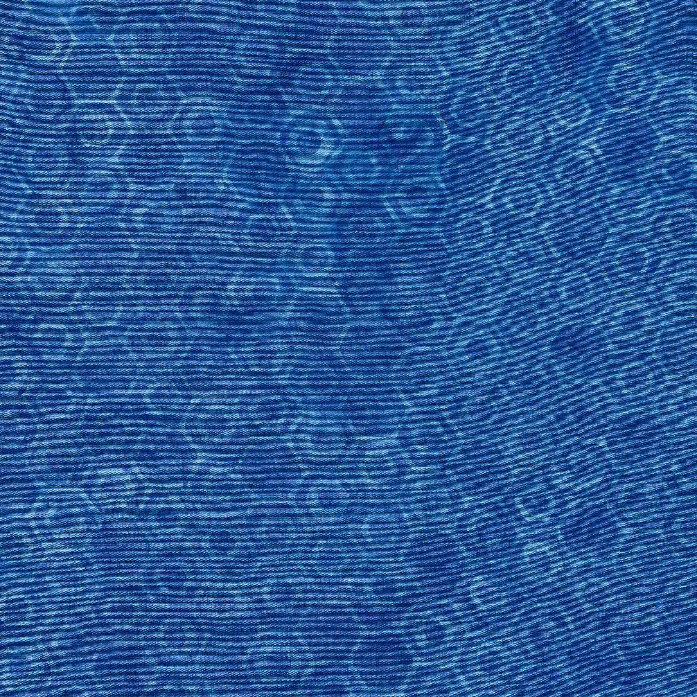 Island Batik Honeycomb-Royal Blue