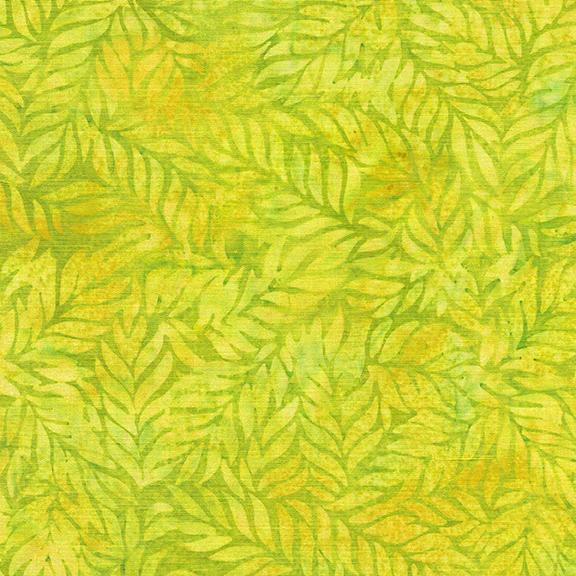 Batik Fern-Chartreuse
