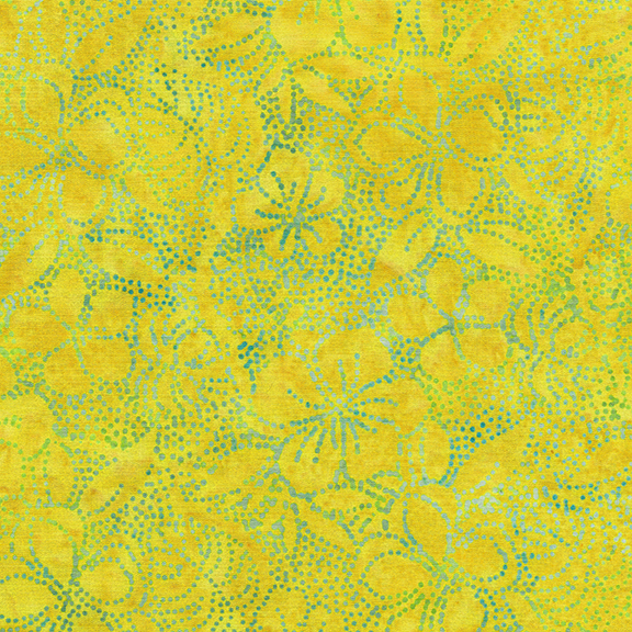 IB- Tropicana Twist Dot Hibiscus-Lemonade Batik