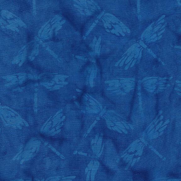 Dragonfly-Lake Blue Island Batik