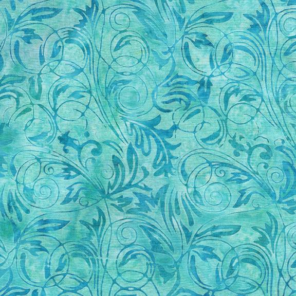 Island Batik - Leaf Tendrils-Rain