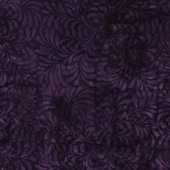 ISLAND BATIK 112024480 / 4 Square Leaves-Purple