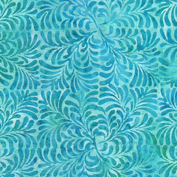 4 Squared Leaves-Aquamarine