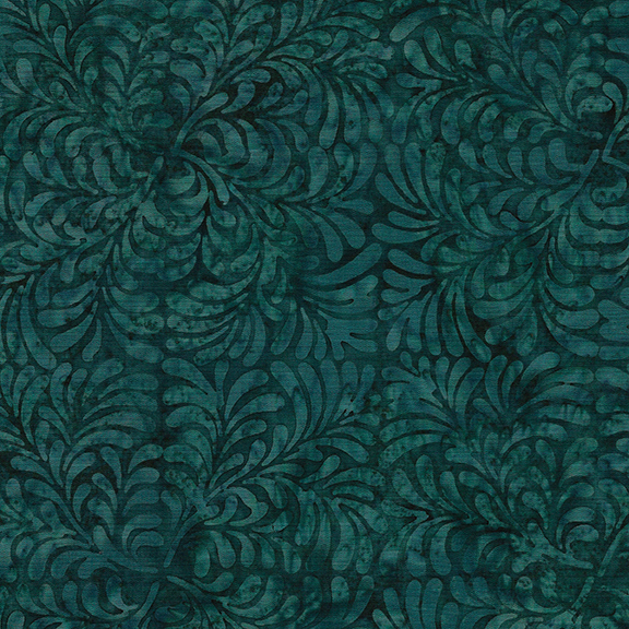 112024562 / 4Squared Leaves-Dark Teal
