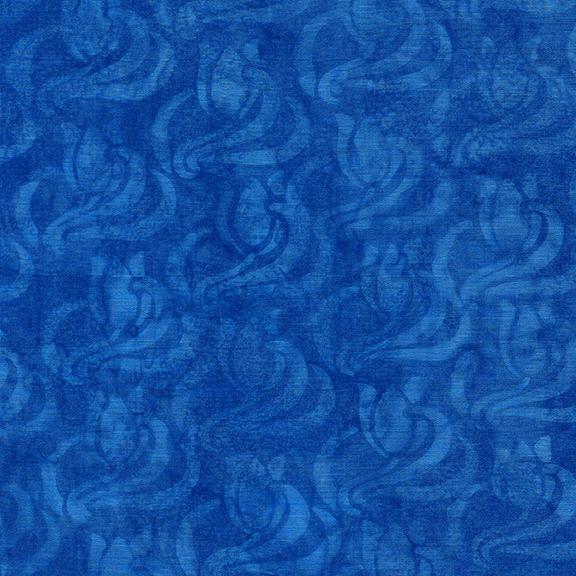 ISLAND BATIK 112027532 / Wavy Swirl Tulip-Royal Blue