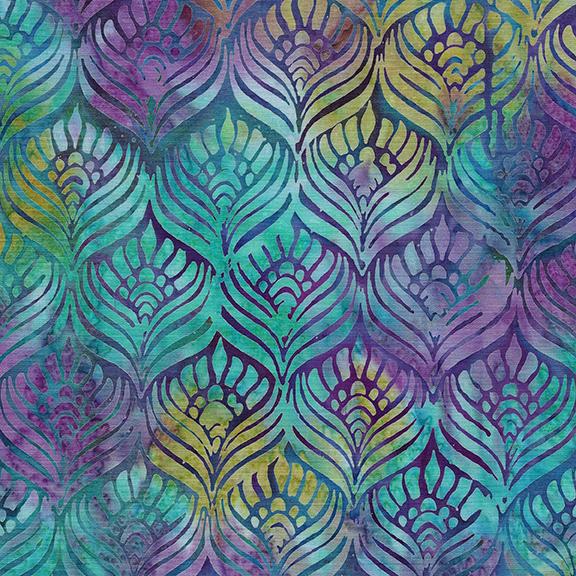 Island Batik - Feathers-Peacock
