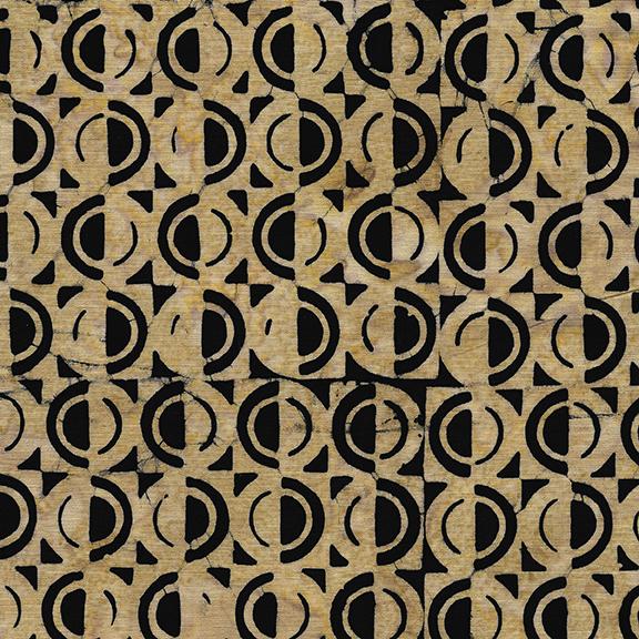 1/2 Circle-Wheat BATIK