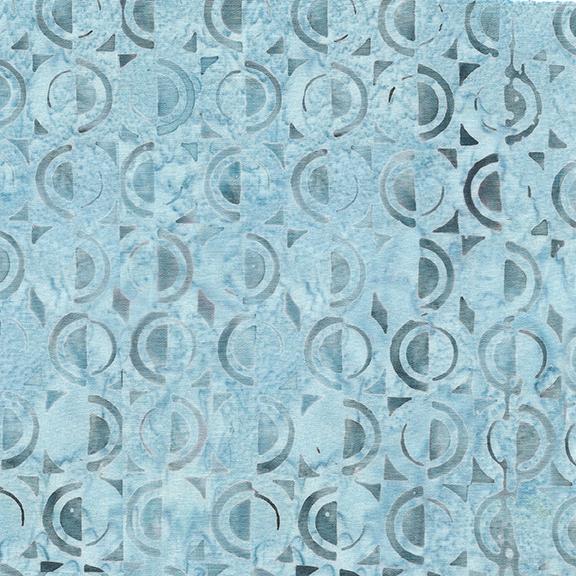1/2 Circle-Frozen Pond Island Batik