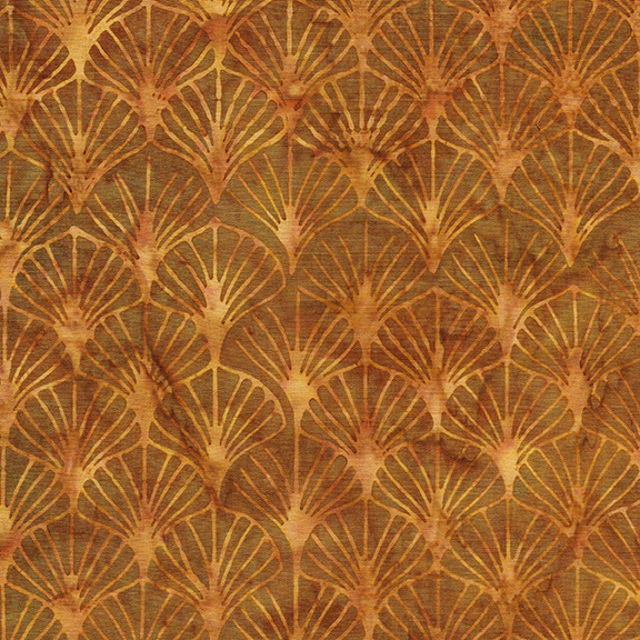 Gatsby Fans-Copper BATIK