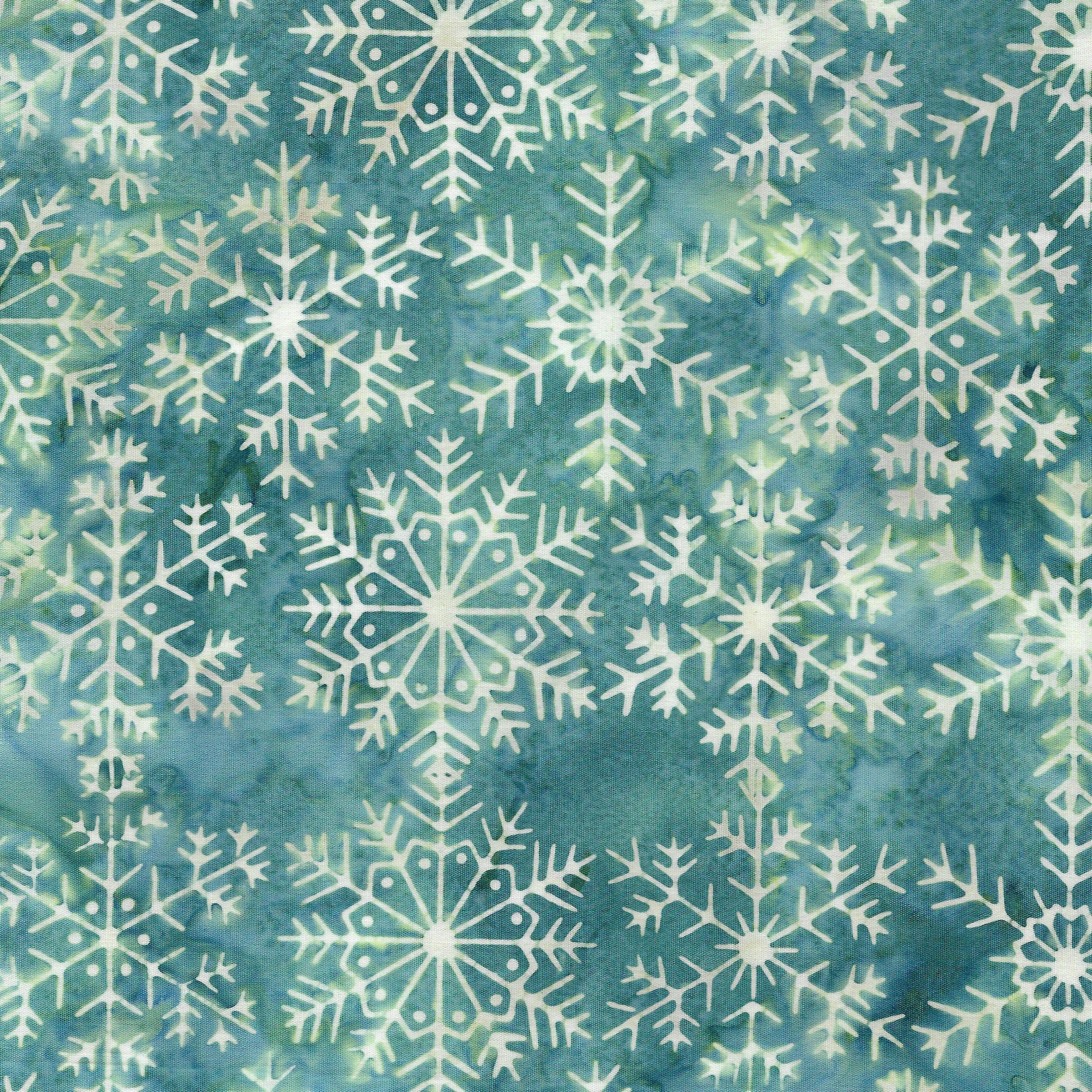 Lg Snowflake -Lt Bermuda