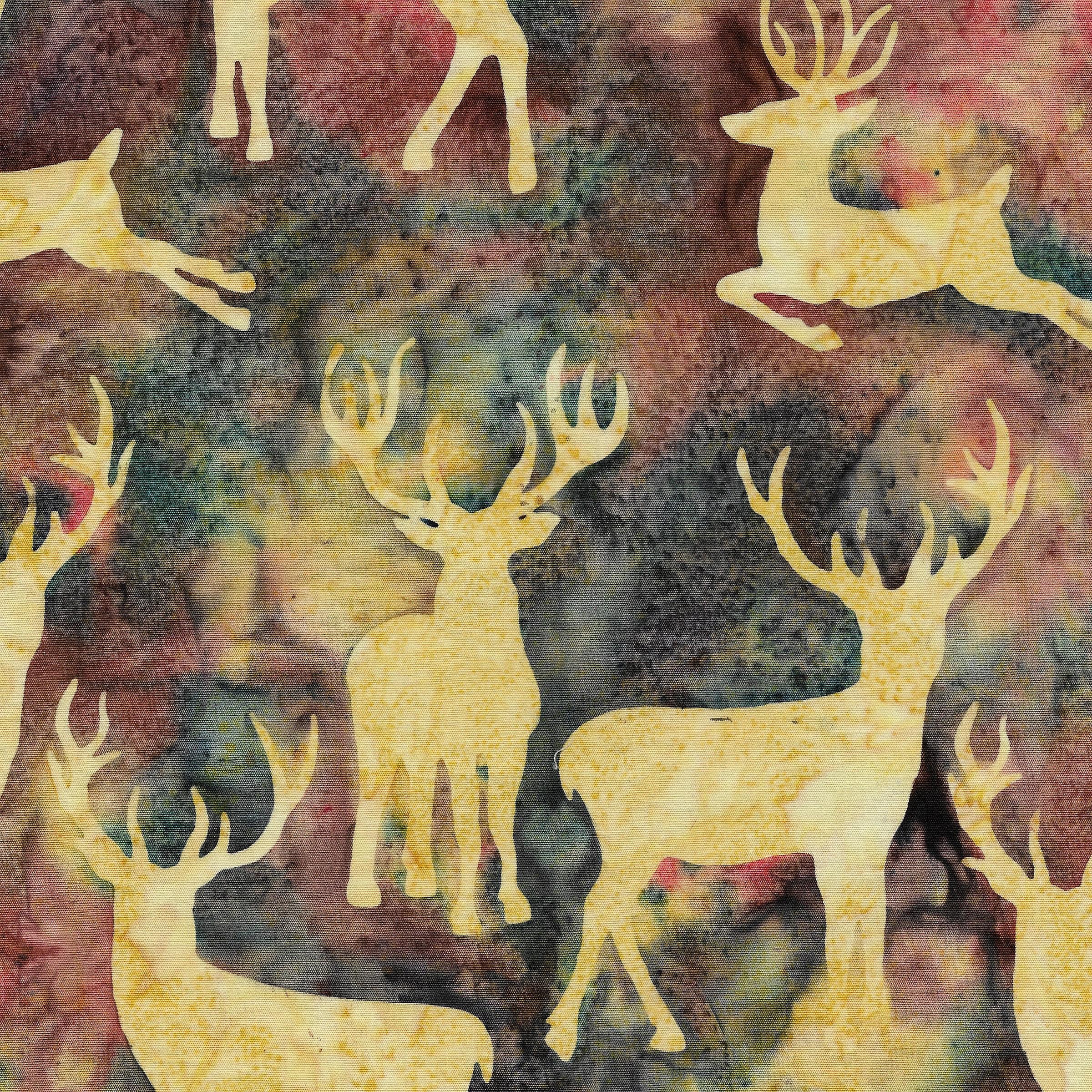 Island Batik -  Deer Grouping -Dusk