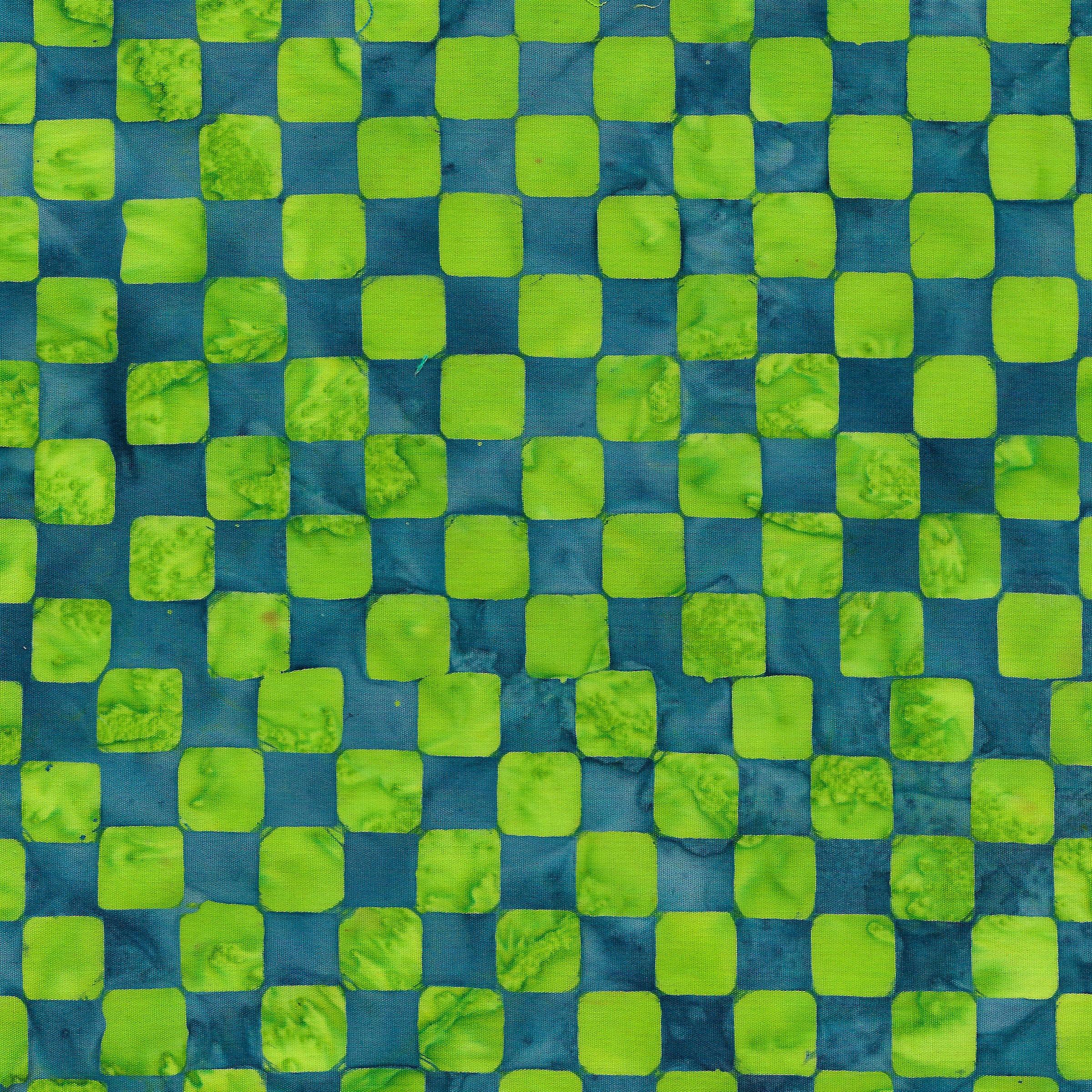 Island Batik Check -Lime