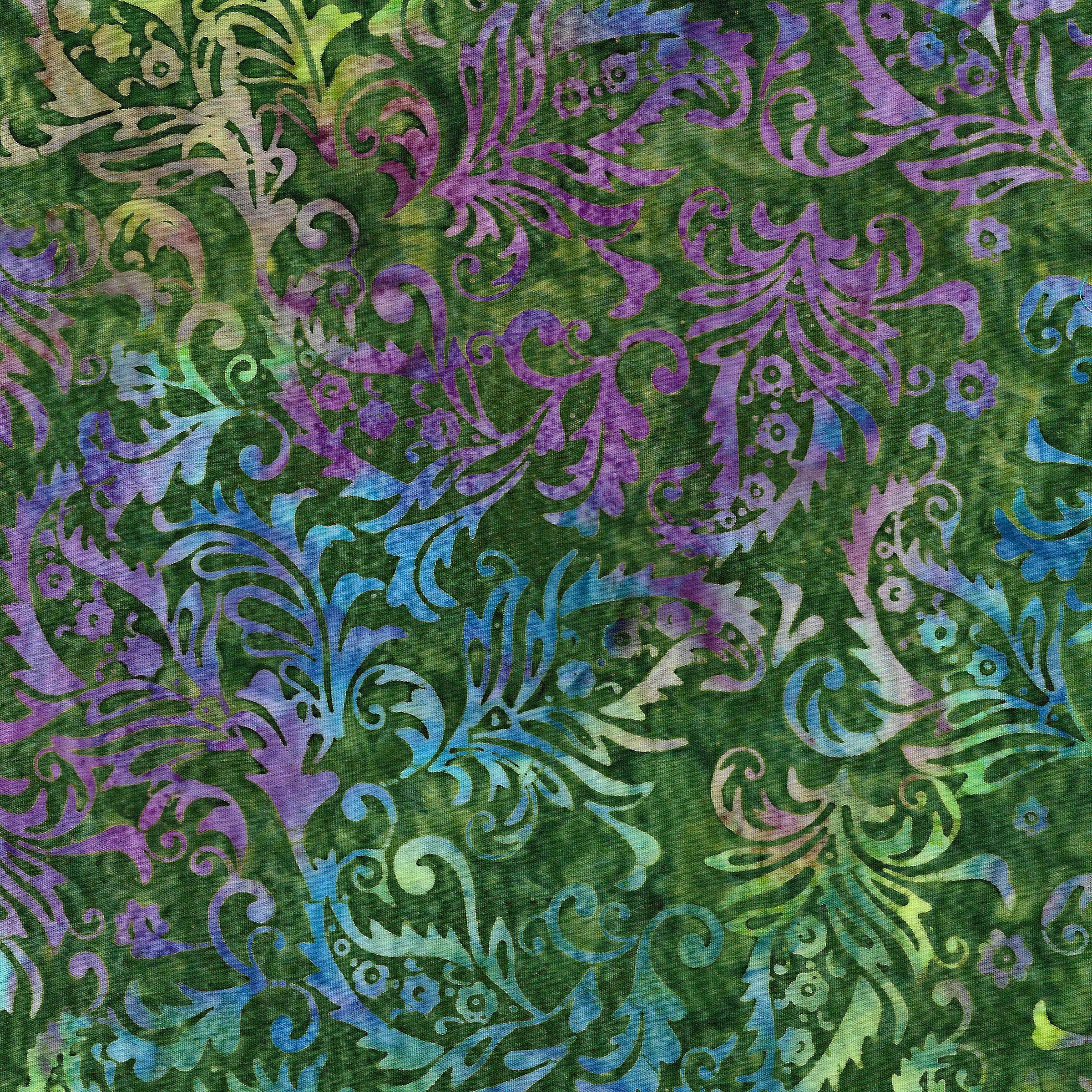 IB- Batik Paisley FLoral Pineneedle