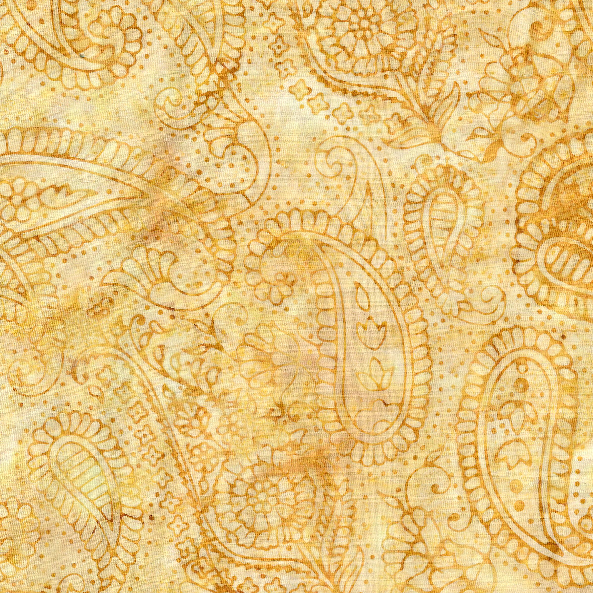 Paisley Outlining-Light Smore Island Batik
