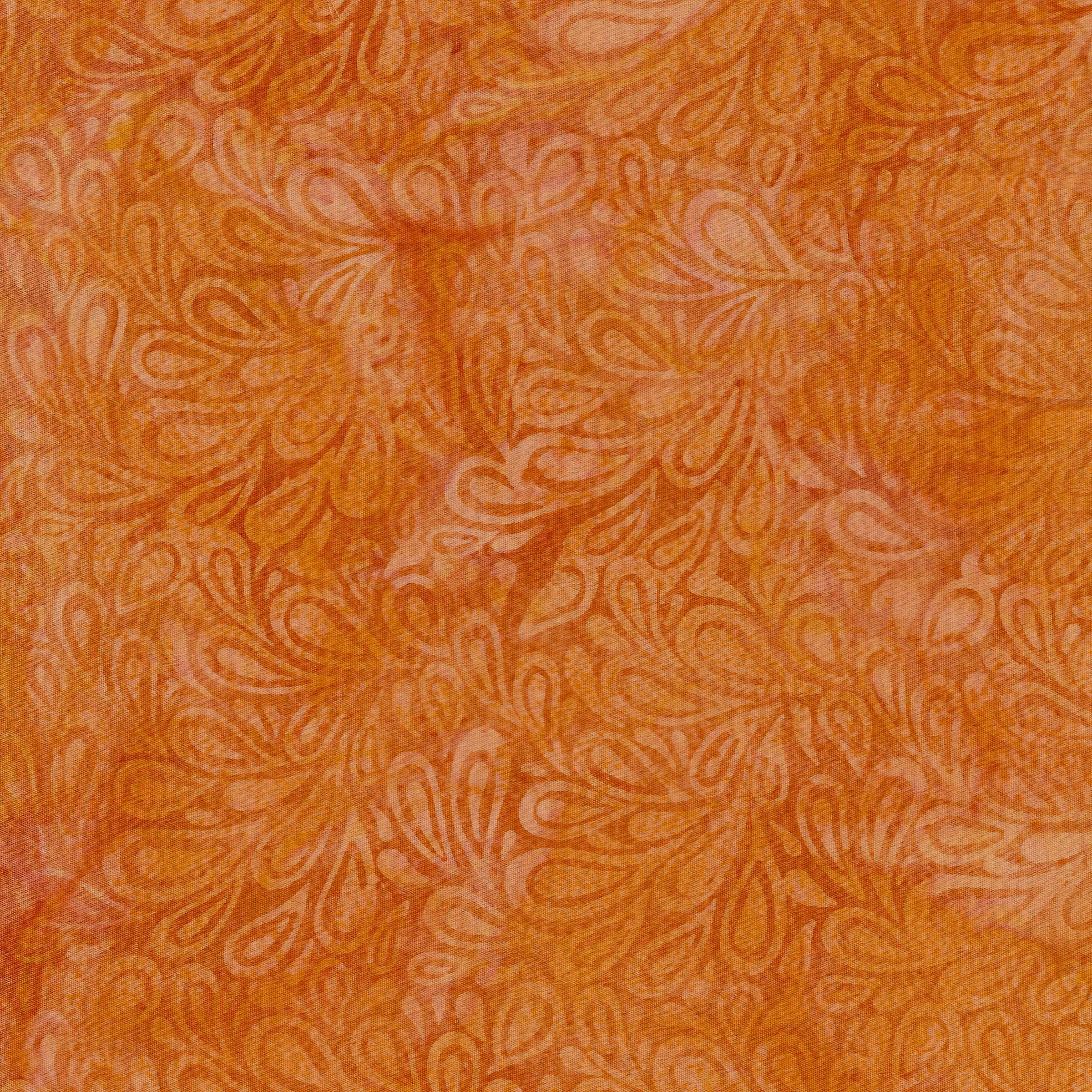 IB- Batik Paisley Drops Cheddar