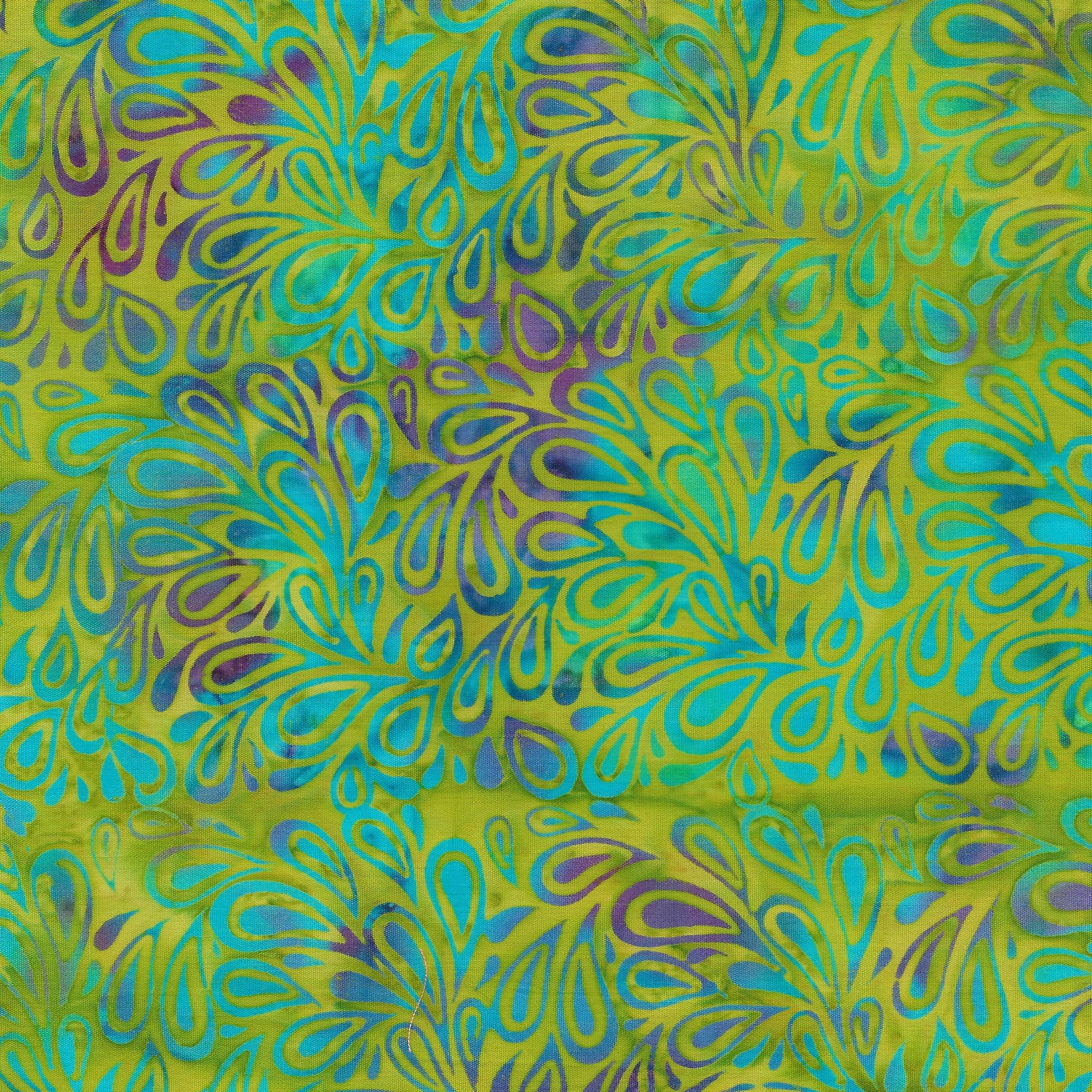 Island Batik - 121820651 / Paisley Drops -Chartreuse