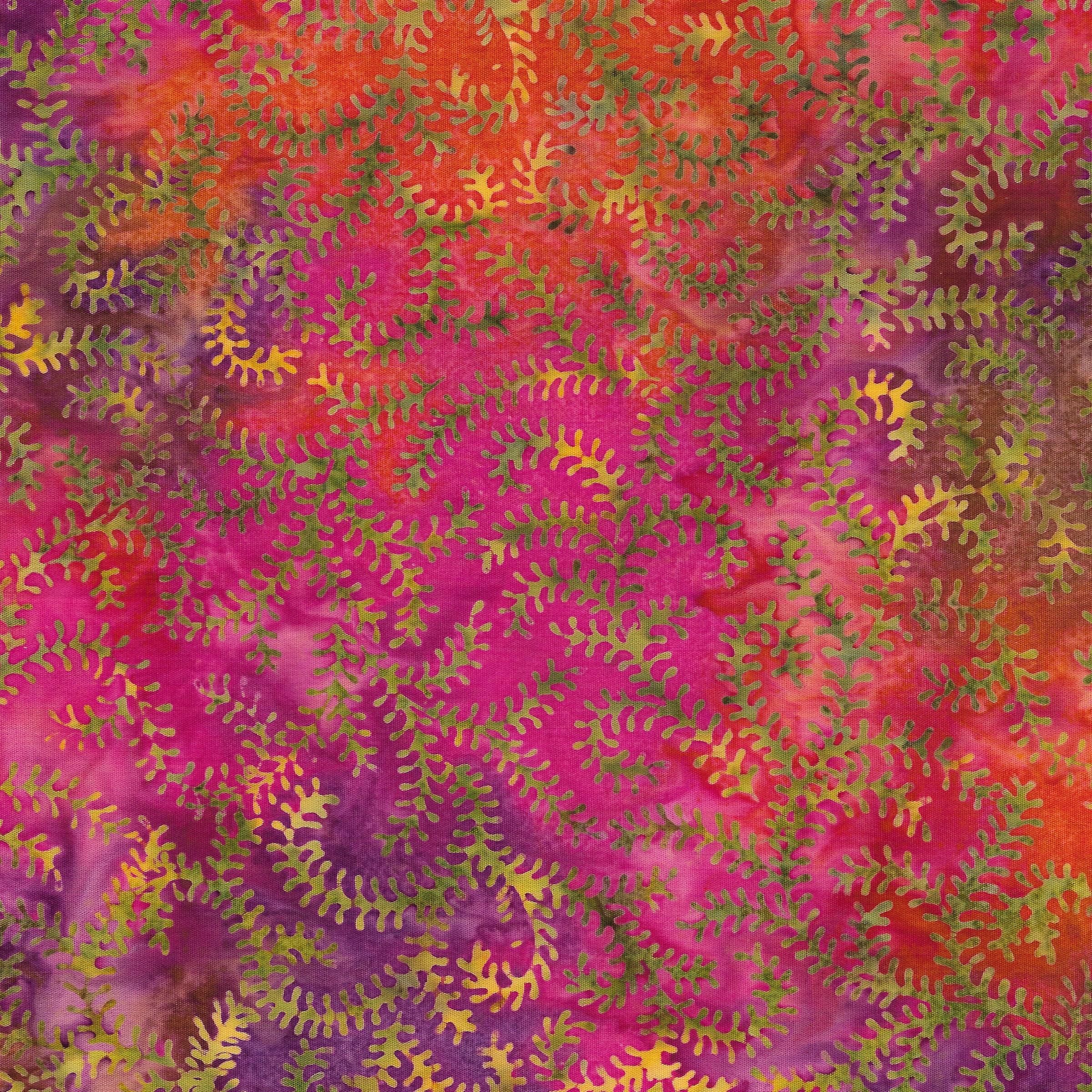 Island Batik - Leaf VIne -Tourmaline