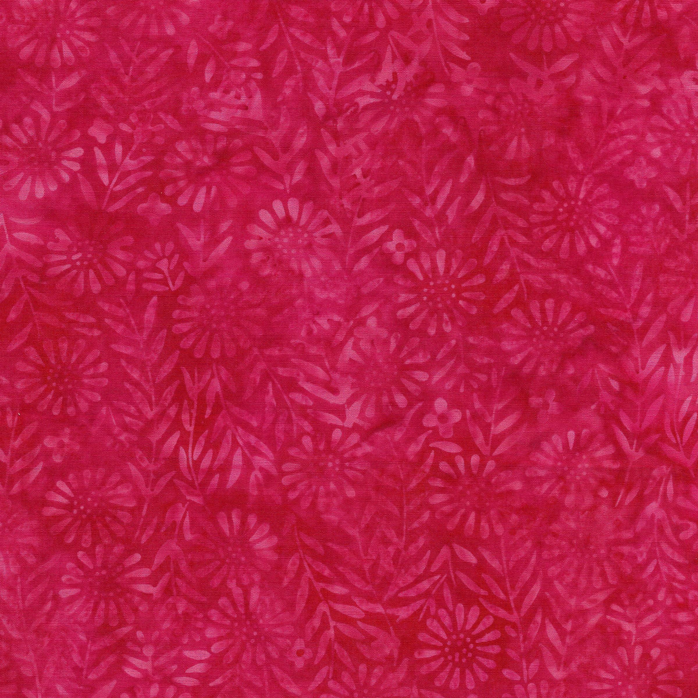 Island Batik Flower Field Fuschia