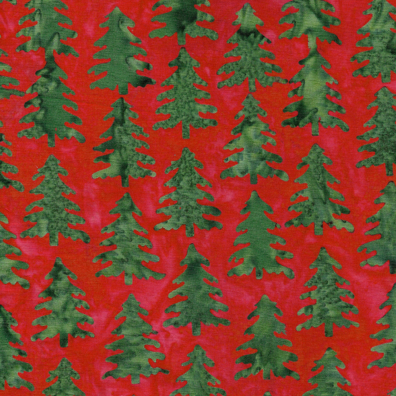 Island Batik - Nordic trees Christmas