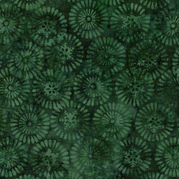 121906680 / Island Batik Nordic Snowflake/Burst-Spinach