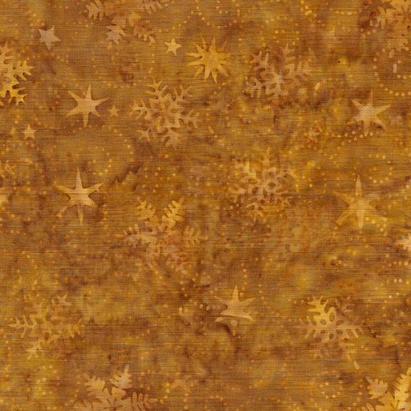 Island Batik Swirl Snowflake Bronze