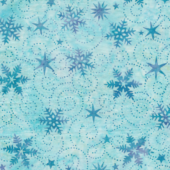 121914625 / Swirl Snowflake-Aqua