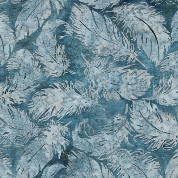 Batik: Tossed Feather -Shark
