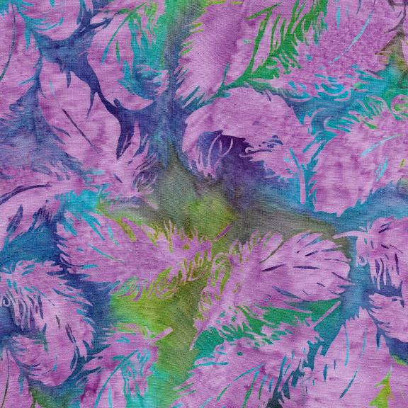 Island Batik Jewel Box Tossed Feather-Mardigras