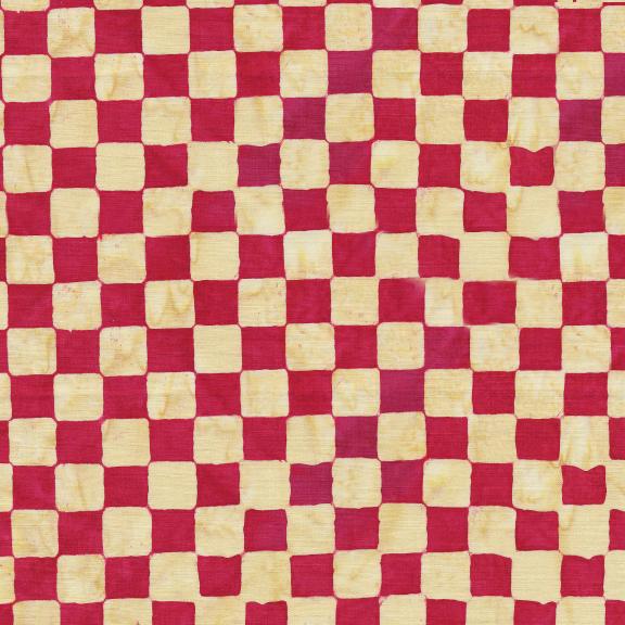 121929370 / Island Batik Check-Cherry