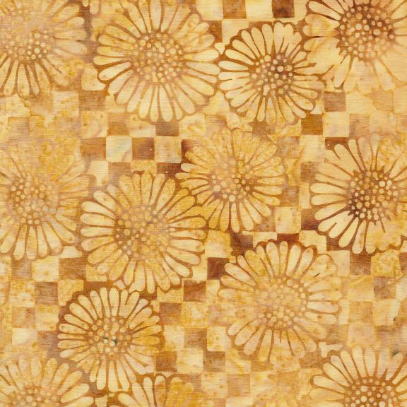 Island Batiks / Check/Sunflower-Smore