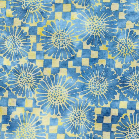 Island Batik / Check/Sunflower-Sunshine