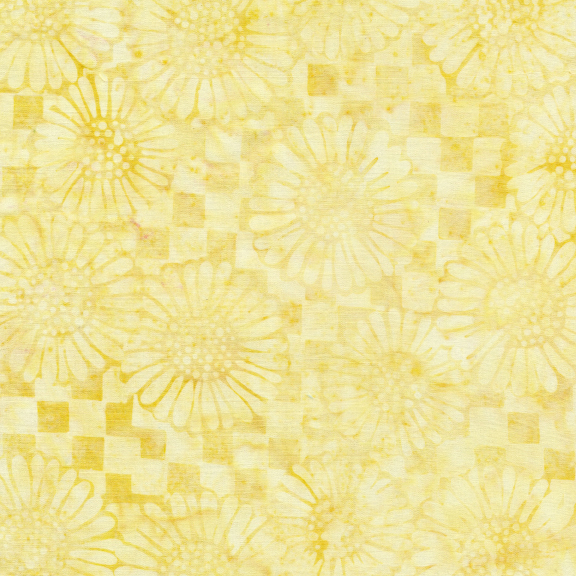 Check/Sunflower-Buttered Popcorn Batik