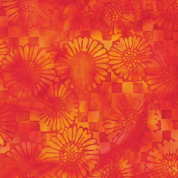121930220 / Check/Sunflower-Nasturtium