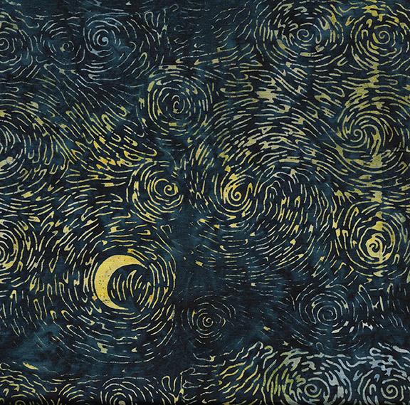 IB- Starry Night Ravine Batik