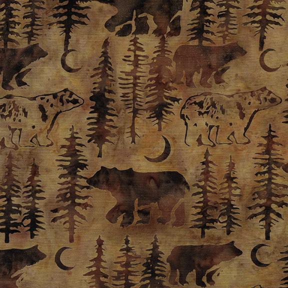 Island Batik - Bear/Tree - Lizard - 122010075