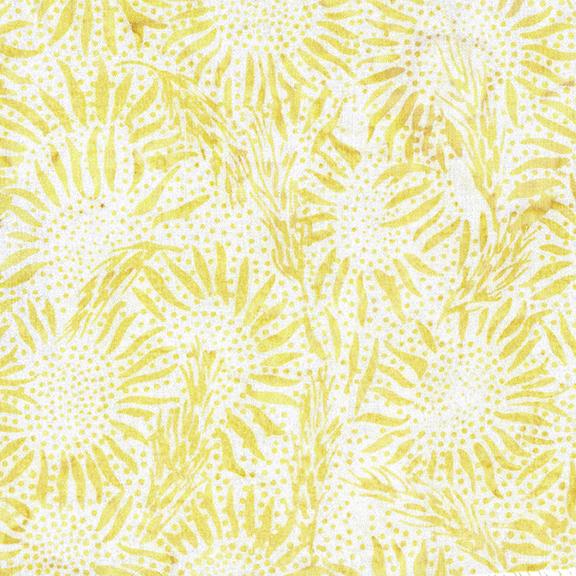 IB- Vincent's Garden Large Wheat Sunflower Blush (Yellow) Batik