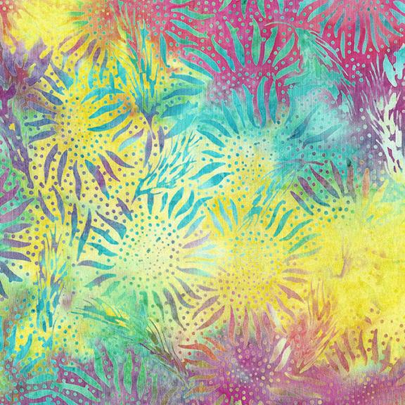 IB- Summer Fields Large Wheat Sunflower Rainbow Sherbet Batik