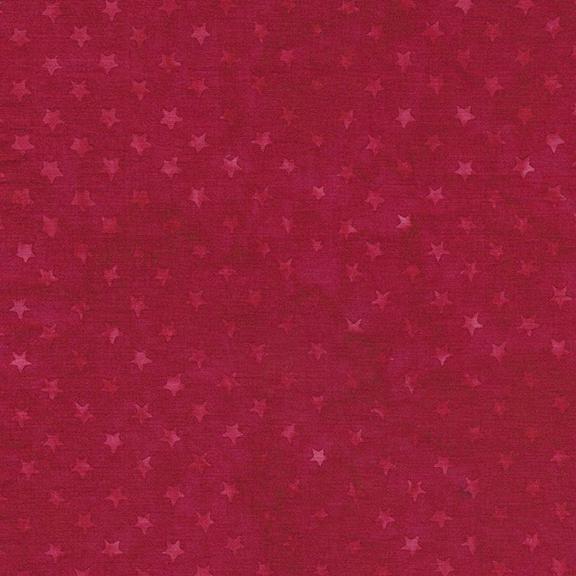 122046370 Freedom 2 Batiks / Stars - Cherry