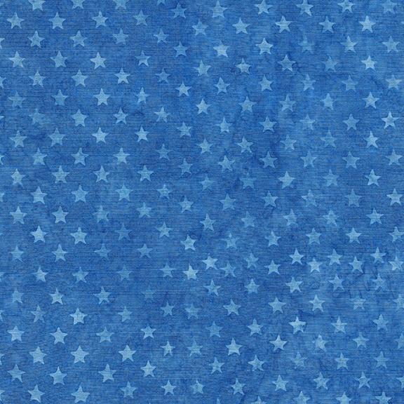 122046530 Freedom 2 Batiks / Stars - Bluebird